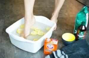 Полезная ванночка от грибка ногтей с лимоном