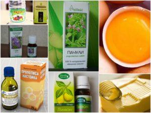 Прополис и эфирные масла лечат грибок