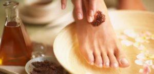 Кофе - уникальное средство для ухода за ногами и лечения грибка