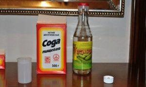 Уксус и сода - идеальное средство от грибка ногтей