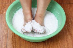 Морская соль от грибка ногтей